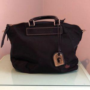 Dooney & Bourke large black nylon satchel bag